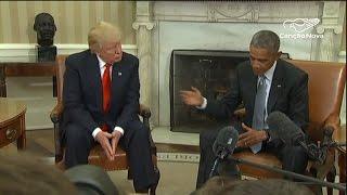 Barack Obama recebe Trump na Casa Branca - CN Notícias