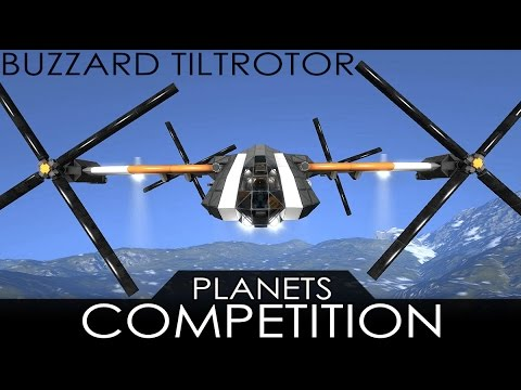 Space Engineers - A Plane with NO ENGINES?? Buzzard Tiltrotor (Planets Comp '16)