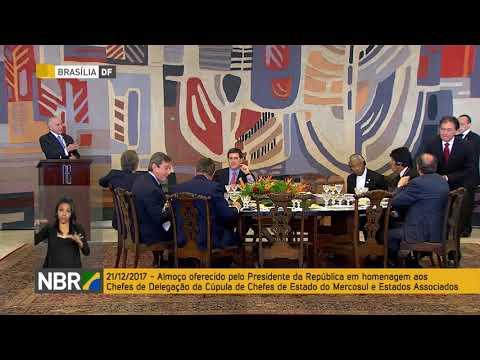 Almoço e brinde dos participantes da Cúpula do Mercosul