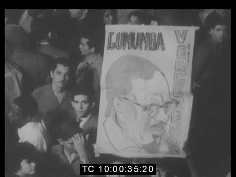 Protest Meeting Outside Belgian Embassy Over Murder of Lumumba | Cuba | Feb 1961