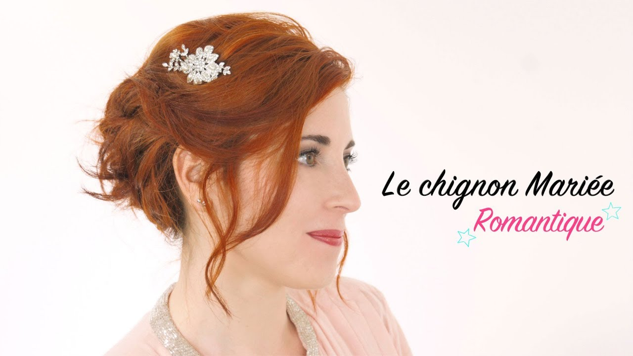 Coiffure Mariage Simple Cheveux Courts Le Chignon Mariage Sur Cheveux Courts Youtube