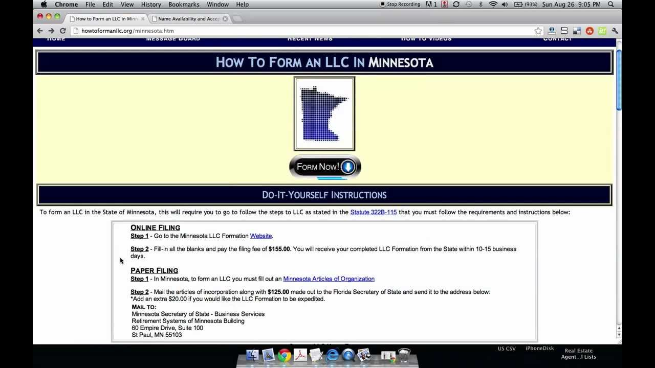 How to Form an LLC in Minnesota - YouTube