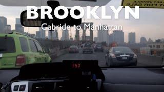 Taxi Cab Ride Brooklyn Bridge, NYC, New York