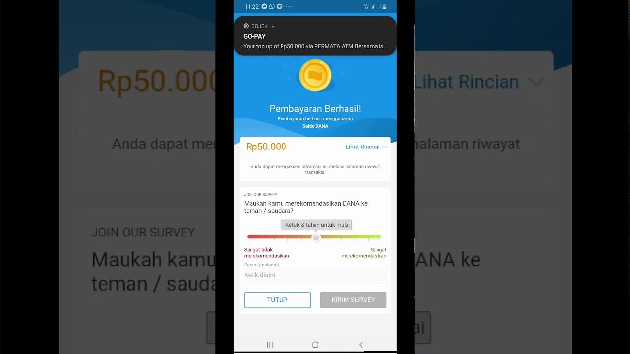 Cara top up gopay gratis biaya admin melalui aplikasi dana - YouTube