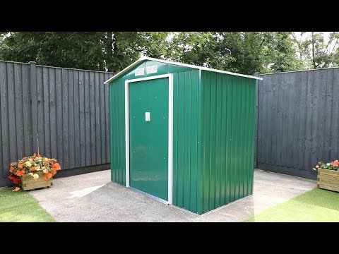 Waltons Apex Metal Shed Installation
