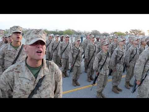 Alpha Company Sings The Marines Hymn - Graduation 3/30/18