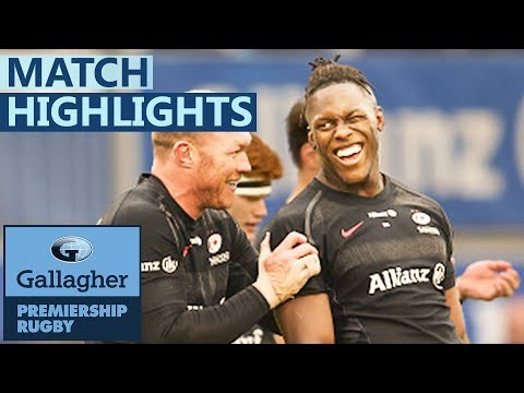 Saracens 26-12 Newcastle | Saracens Come From Behind! | Gallagher Premiership - Highlights