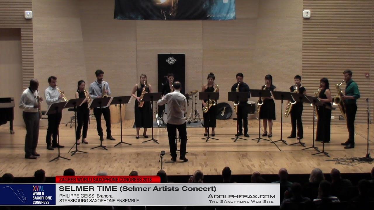 Branora by Philippe Geiss   Strasbourg ensemble   XVIII World Sax Congress 2018 #adolphesax