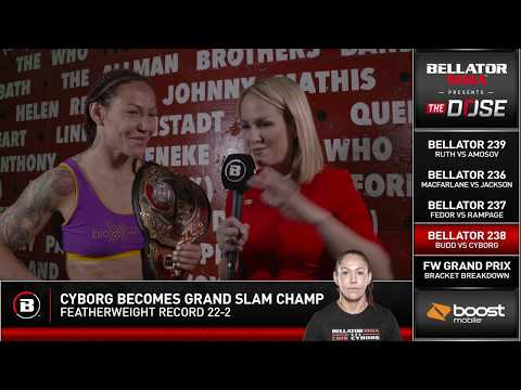 """Jay Glazer """"Cris Cyborg is a Gangster"""" after she becomes MMA's only Grand Slam Champion on THE DOSE"""