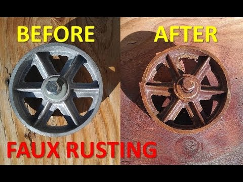 Faux Rust Finish Rusted Colored Spray Paint Look Onto Your