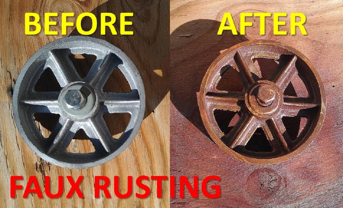 rust effect spray paint