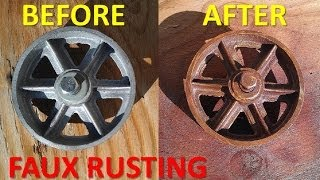 Spray Paint A Rust Faux Finish Look On Your Projects