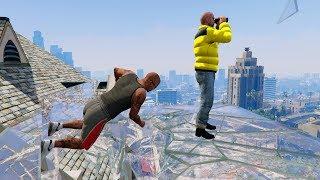 GTA 5 Ragdolls compilation (Franklin Crazy Jumper - Funny Moments)