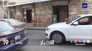 إربد .. المحلات التجارية في شارع الرشيد تفتح ابوابها بعد حل مشكلة الصرف الصحي