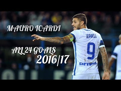 Mauro Icardi ► All 24 Goals in Serie A 2016/17 ᴴᴰ