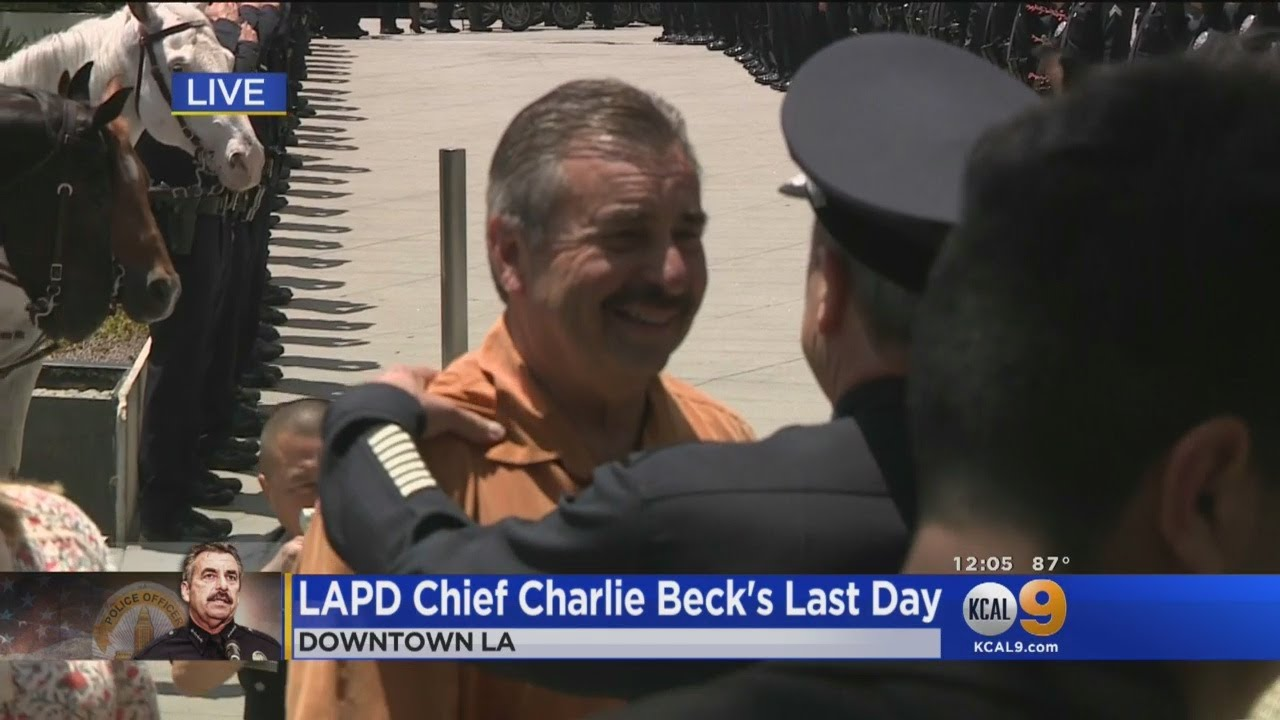 Download Charlie Beck Retires, Michel Moore Sworn In As New LAPD Chief