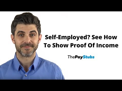 How To Show Proof Of Income For Self-Employed?