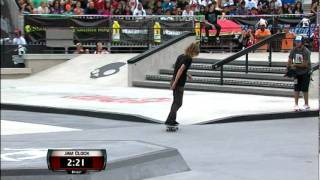 Maloof Money Cup NY 2011 Pro Finals Round 2 Jam 1 - Collin Provost & Dennis Busenitz