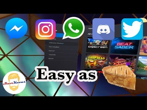 SideLoading On The Oculus Quest Made Easy! Twitter, Instagram, Whats App, Discord And More!