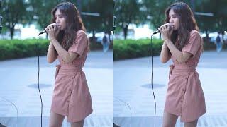 【街头好声音】美女街头演唱邓紫棋的【来自天堂的魔鬼】,居然如此惊艳!