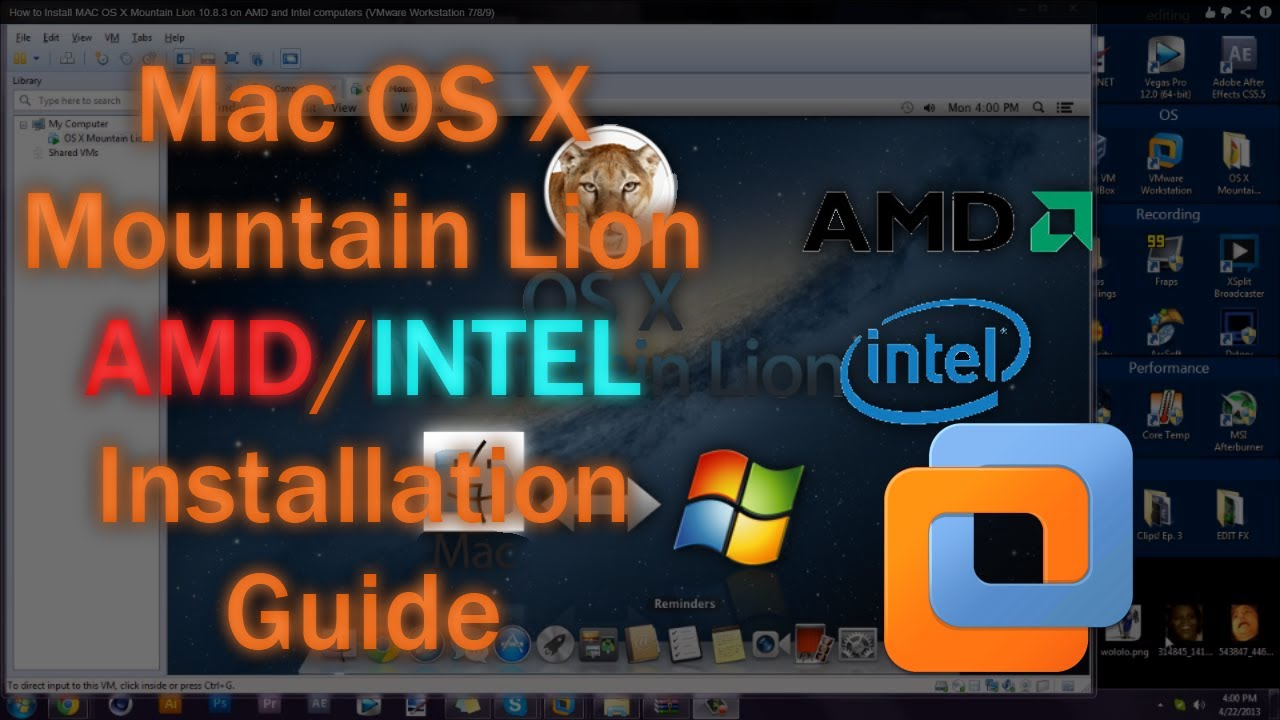 how to install mac os x lion on pc without vmware