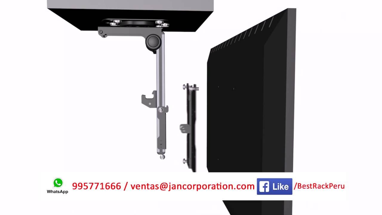 Soporte rack de techo plegable de aluminio 13 37 youtube - Soportes de tv para techo ...