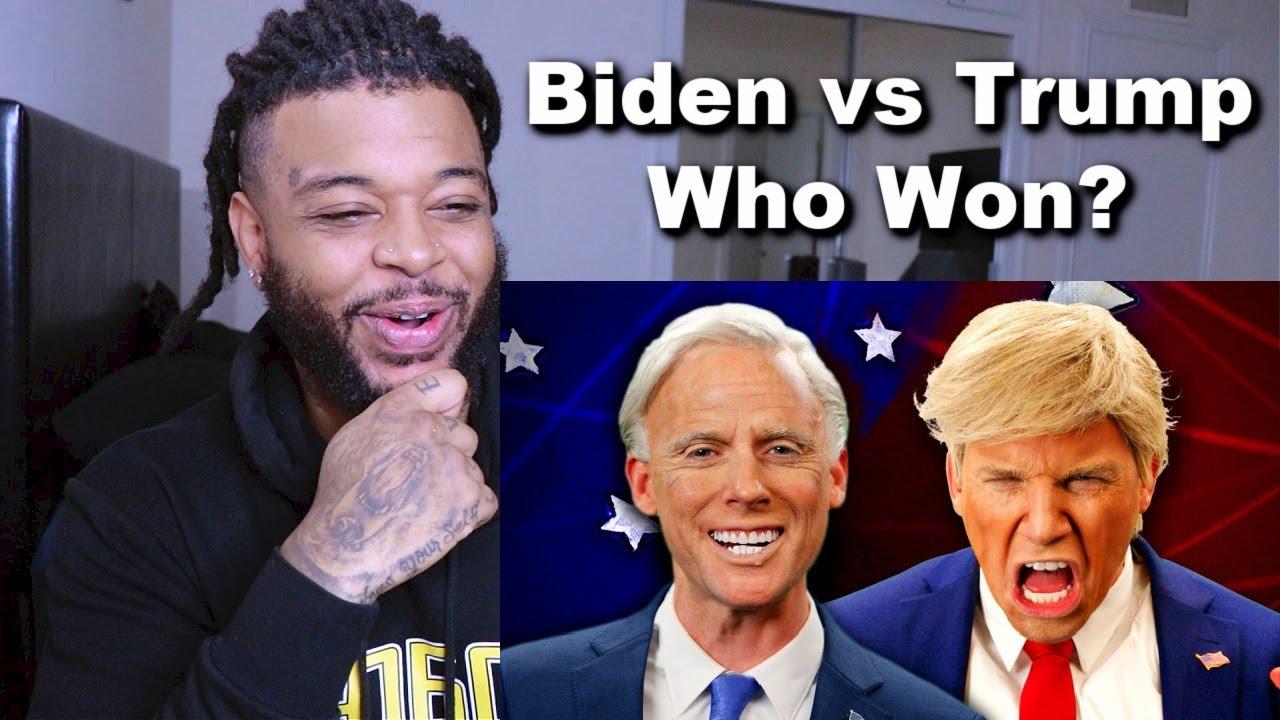 Donald Trump vs Joe Biden. Epic Rap Battles Of History | Reaction
