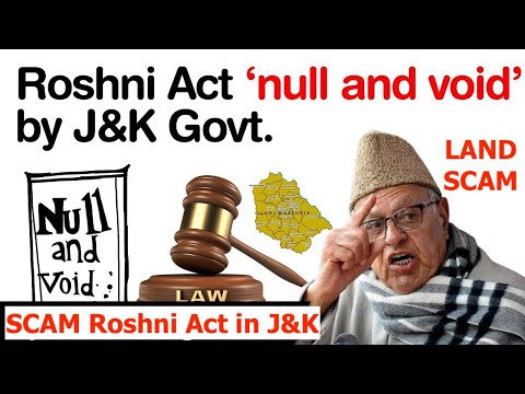 All The Land Deals Under The Roshni Act Are Now Void