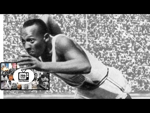 Jesse Owens Real Footage!!! Summer Olympics in Berlin 1936. 20th Century Time Machine.