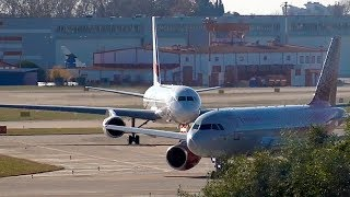 Однажды в СОЧИ Ту 204 и Airbus A319 Аэропорт Сочи Адлер