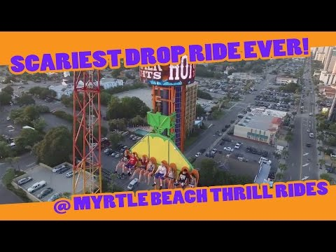 Scariest Drop Ride EVER at Myrtle Beach Thrill Rides