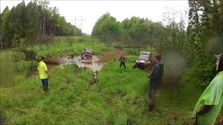 Wildcat X bends tie rod and breaks axle crossing deep creek