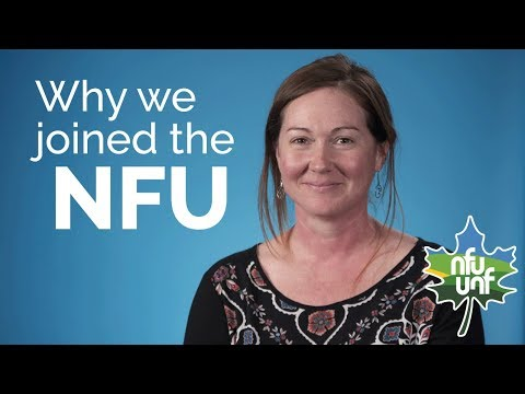 Why did you join the National Farmers Union?