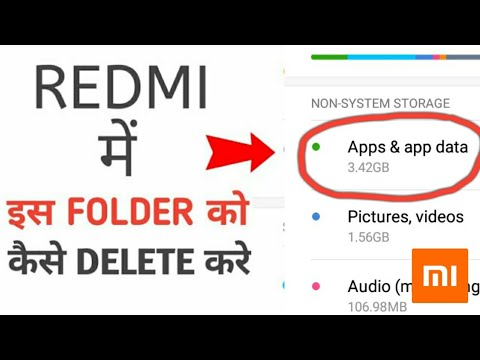 HOW TO DELETE APPS & DATA FILES IN ANY XIAOMI SMARTPHONE | REDMI STORAGE CLEAN UP BY INSANE KRISHNA