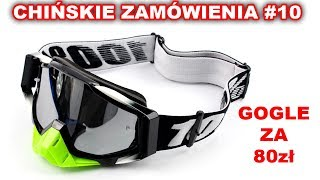 CHIŃSKIE ZAMÓWIENIE #10   Gogle 100% na kask Enduro Motocross