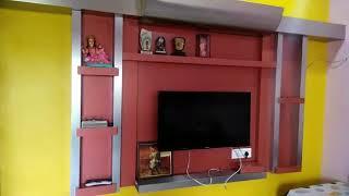 LIVING ROOM CEILING AND TV UNIT DESIGN