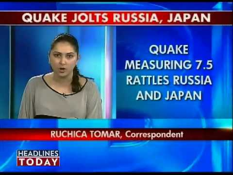 Quake jolts japan russia