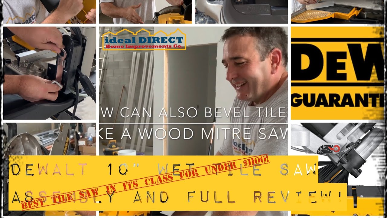 dewalt 10 wet tile saw assembly and full review d24000s with tips and tricks