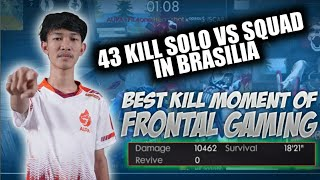 43 KILL IN BRASILIA USING SHOOTGUN & MP40 !! HIGHLIGHTS // FREE FIRE BATTLEGROUNDS