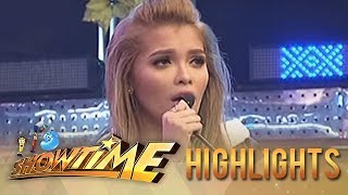 "KZ Tandingan sings ""Mahal ko o Mahal ako"" on Its Showtime"