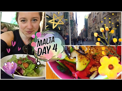 Valletta & EATING OUT VEGAN ABROAD TIPS | Malta #4