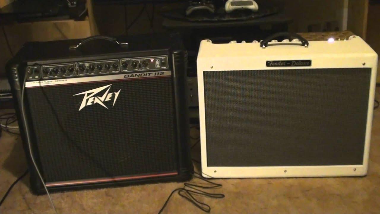 Peavey Bandit 112 vs Fender Hot Rod Deluxe - YouTube