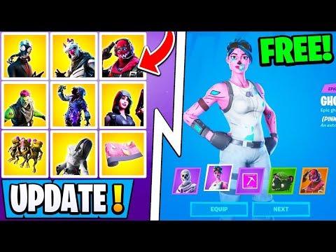 *NEW* Fortnite Halloween Update! | OG Ghoul Trooper, All Free Rewards, Skins!