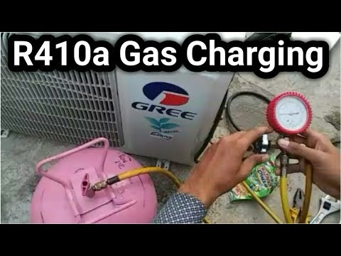 R410a gas charge in inverter ac | in Urdu/Hindi