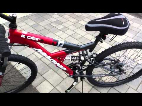 "Magna Men's Excitor 26"" Mountain/Terrain Bike - Red/Black - AaronTheEagle1 Video"