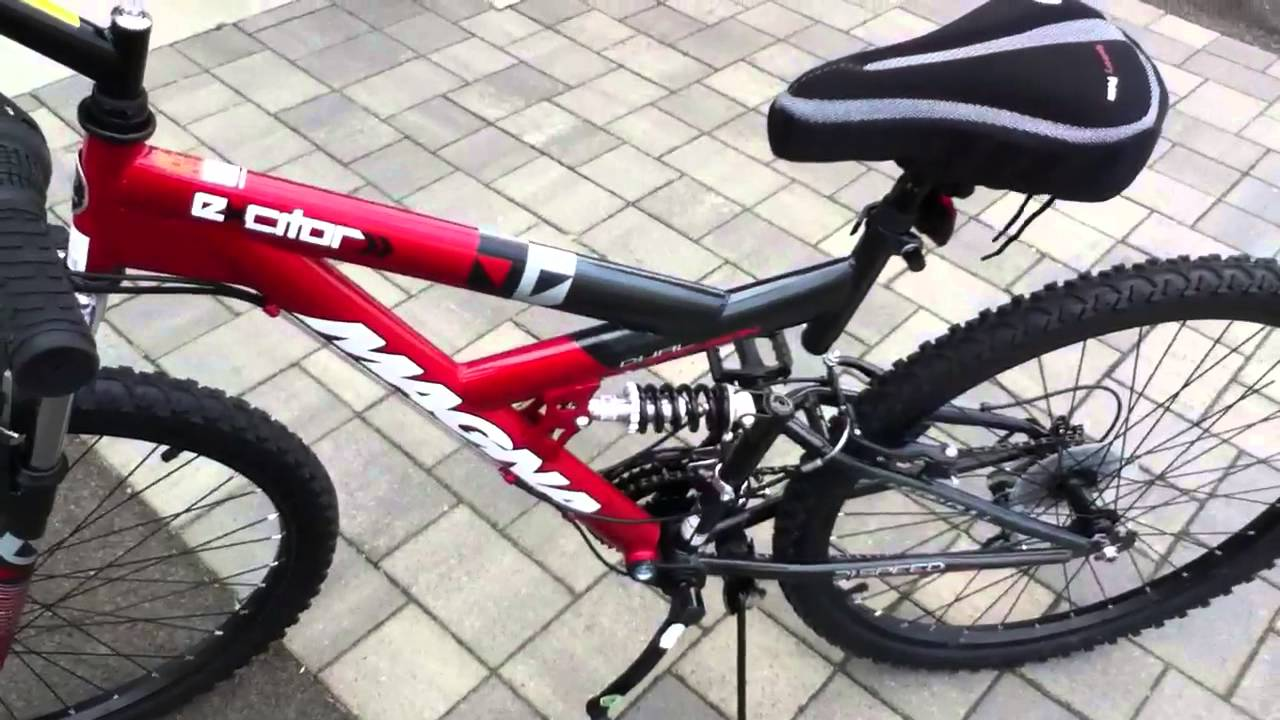 magna men s excitor 26 mountain terrain bike red black rh youtube com magna excitor mountain bike manual Magna 18 Speed Mountain Bike