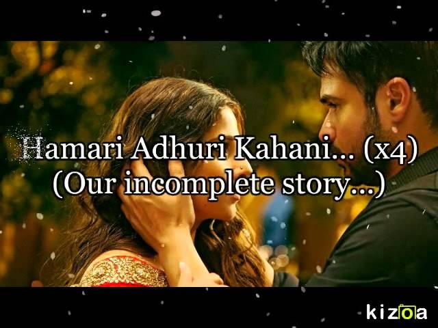 Hamari Adhuri Kahani Hindi Lyrics with English Translation