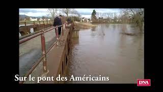 A Horbourg-Wihr, la montée des eaux de l'Ill