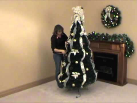 pre decorated pull up christmas tree