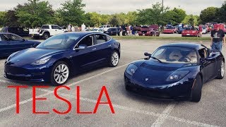Driving the Tesla Roadster and the Model 3!